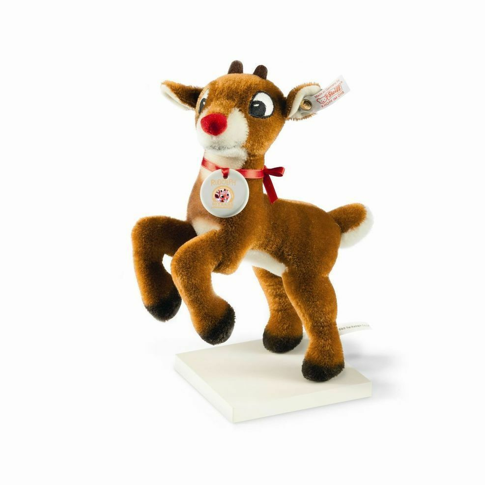STEIFF EAN 682742 Rudolph the rot Nose Reindeer 50th Anniversary Brand New Boxed