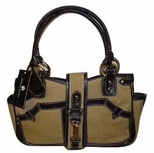 Details About Joshua Taylor Handbag New With Tags Brown Leather Trim Las Bag