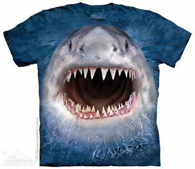 Wicked Nasty Shark The Mountain 100/% Cotton Kids Hoodie Sweatshirt Sizes S-M-L