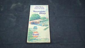 1960's GULF OIL Road Map PENNSYLVANIA DELAWARE MARYLAND WEST VIRGINIA WASHINGTON