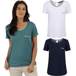 Regatta Women/'s Alaina Coolweave Hybrid T-Shirt Blue