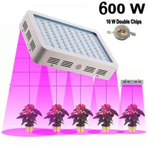 600w Led Grow Light Full Spectrum Panel Veg Flower For