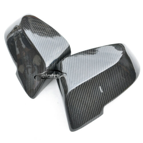 Carbon Fiber For BMW F10 535 550 528 LCI Rear Side Mirror Caps Replacement 14+