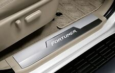 GENUINE TOYOTA ACCESSORY SCUFF PLATE STAINLESS STEEL LOGO FORTUNER 2011-2015