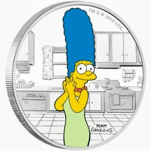 2019-Tuvalu-THE-SIMPSON-039-S-MARGE-Colorized-1oz-999-Proof-Silver-Coin-Box-amp-COA