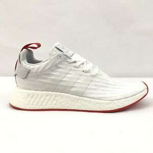 a7804883c Adidas NMD R2 Primeknit PK White Core Red BA7253 Mens Two Toned Size ...