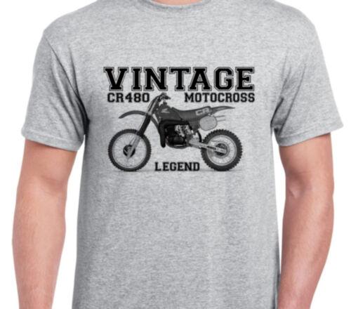 HONDA CR480 83 INSPIRED VINTAGE MOTOCROSS TWINSHOCK EVO SHIRT tshirt