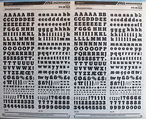 MECANORMA-Dry-Transfer-Lettering-Sheet-A3-Letraset-19-HILLMAN-9-5mm