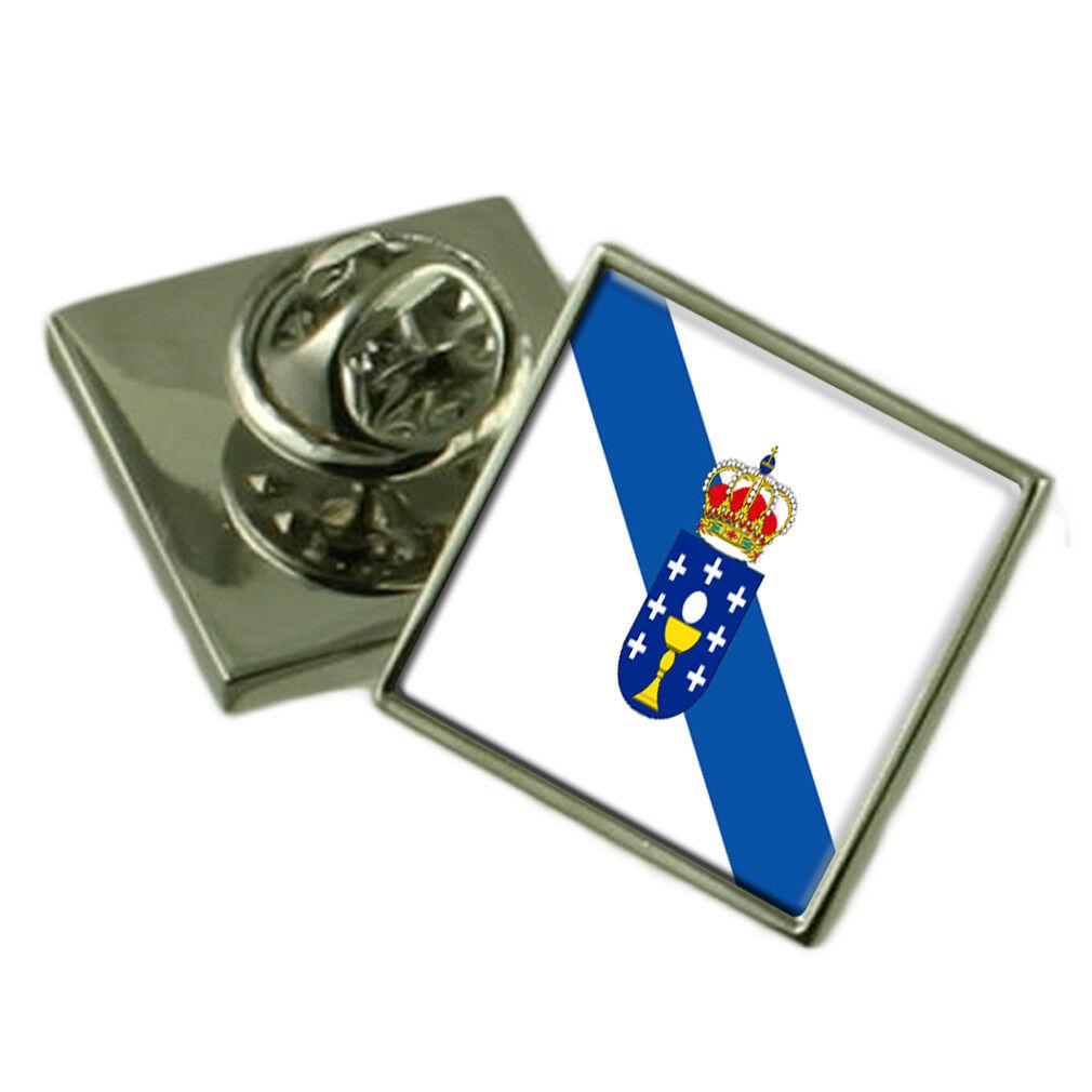 Galicia Spilla per Bavero Inciso Personalizzato Personalizzato Personalizzato Scatola eabc13