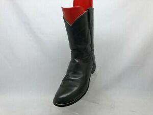 JUSTIN Gray Leather Roper Cowboy Western Boots Youth Size 5 D Style 3025