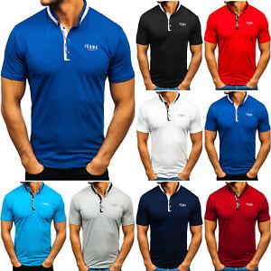 T-Shirt Tee Kurzarm Rundhals Classic Unifarben Classic Men Herren BOLF 3C3 Basic