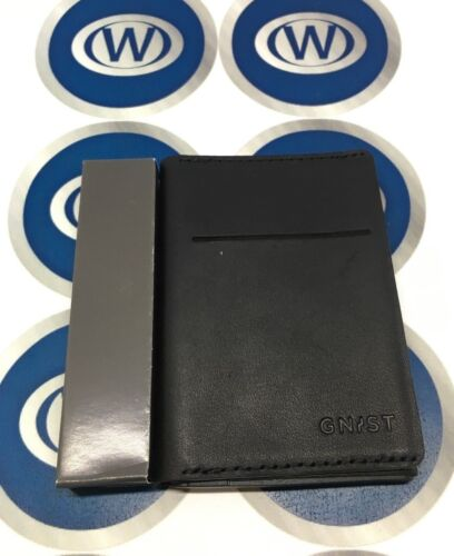 Gnist Black Leather Wallet With Apple iPhone Charger 1800mAh New Boxed UK Mail