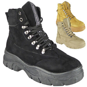Womens Trainers Boots Ladies Lace Up