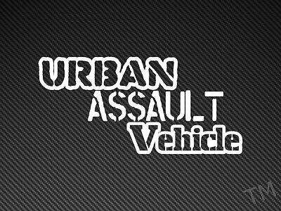 Urban Assault Vehicle Car Van Sticker Decal Off Road