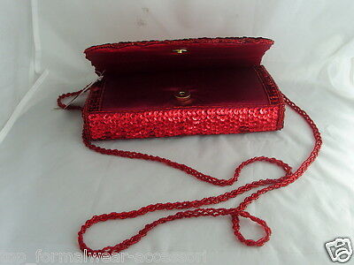 LADIES Evening Hand//Clutch Bag with Sequins-BURGUNDY/>/<*Free*/> P/&P 2UK/>/>1st Class