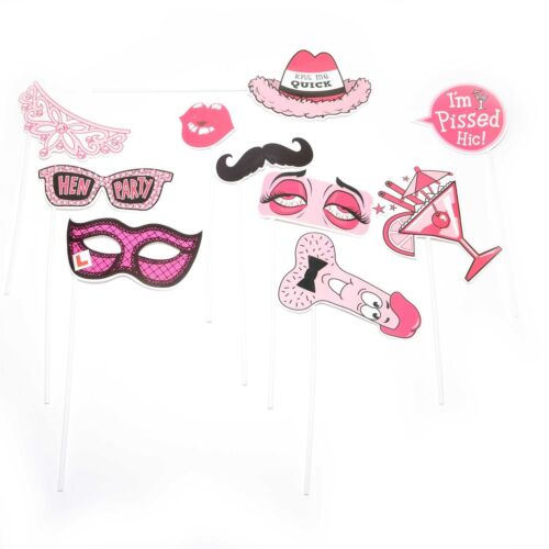 Hen Party Photo Booth Girls Night Out Games Bachelorette Accessories Decorations