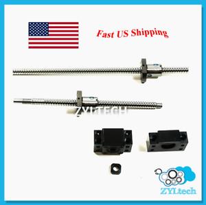 ZYLtech Precision (TRUE C7) Ball Screw 12mm 1204 w/ BF/BK10 End Support - 550mm