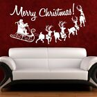 Christmas Wall Stickers Quotes Art Merry Christmas Window Decor Decal SVIL33