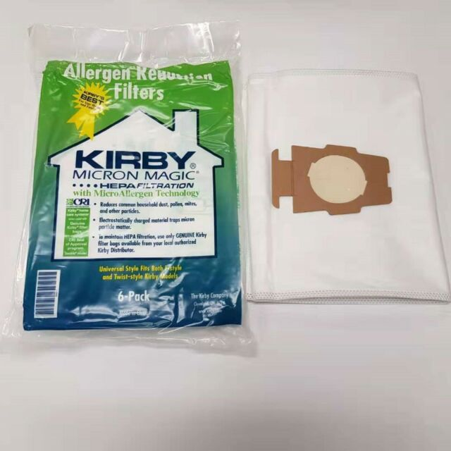 6 DVC Kirby Style F Hepa Filtration Vacuum Bags with 5 Belts