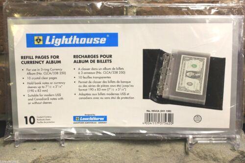 Lighthouse Currency Holder Album Leather Regular Banknote 30 Binder Page Book