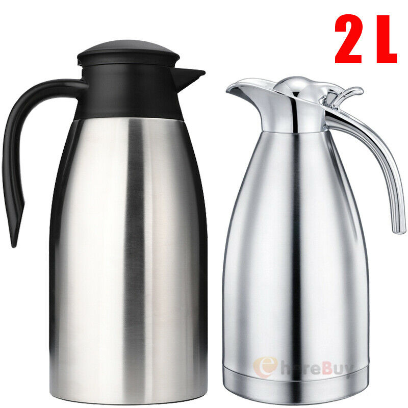 2l Stainless Steel Vacuum Insulated Thermal Carafe Coffee Pot Water Pitcher 68oz For Sale Online Ebay