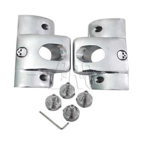 Aluminum Chrome Skull Spark Plug HeadBolt Covers for Harley Sportster XL1200 883