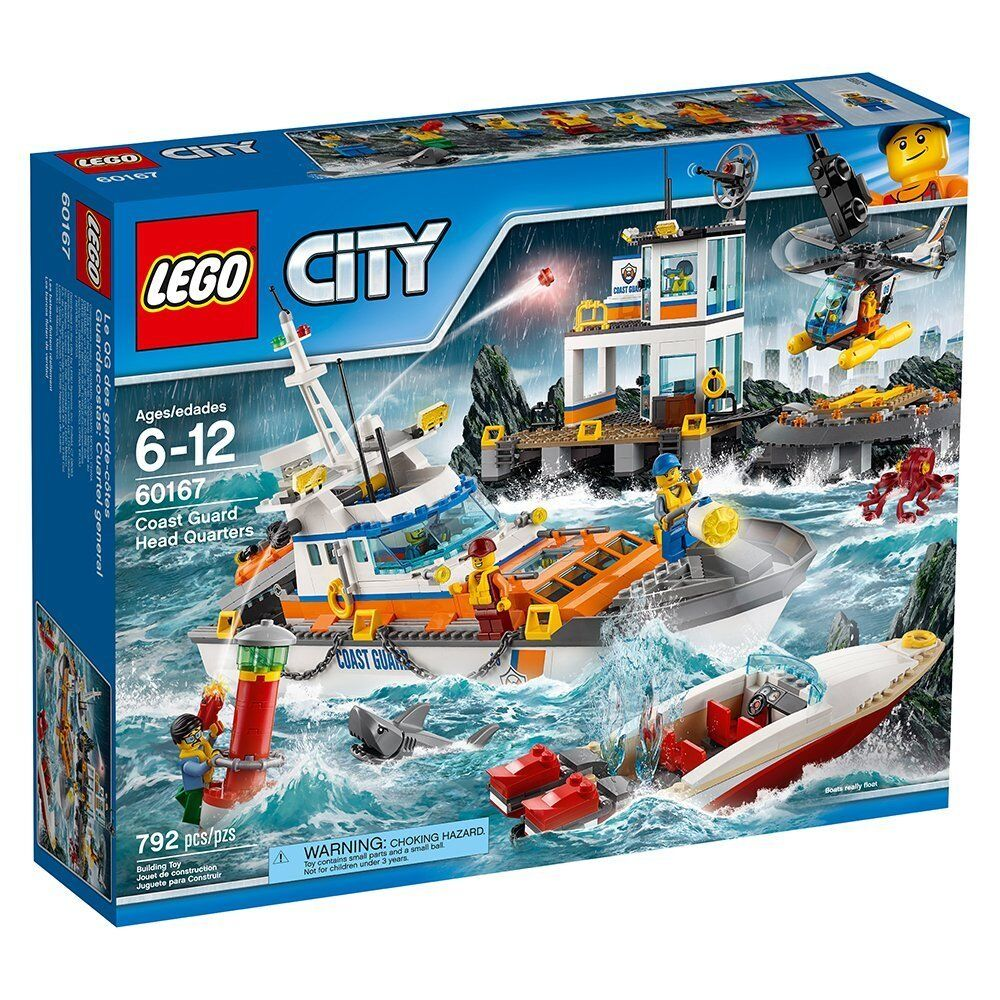 Lego City 60167 Coast Guard Head Quarters Ship Octopus Present NISB