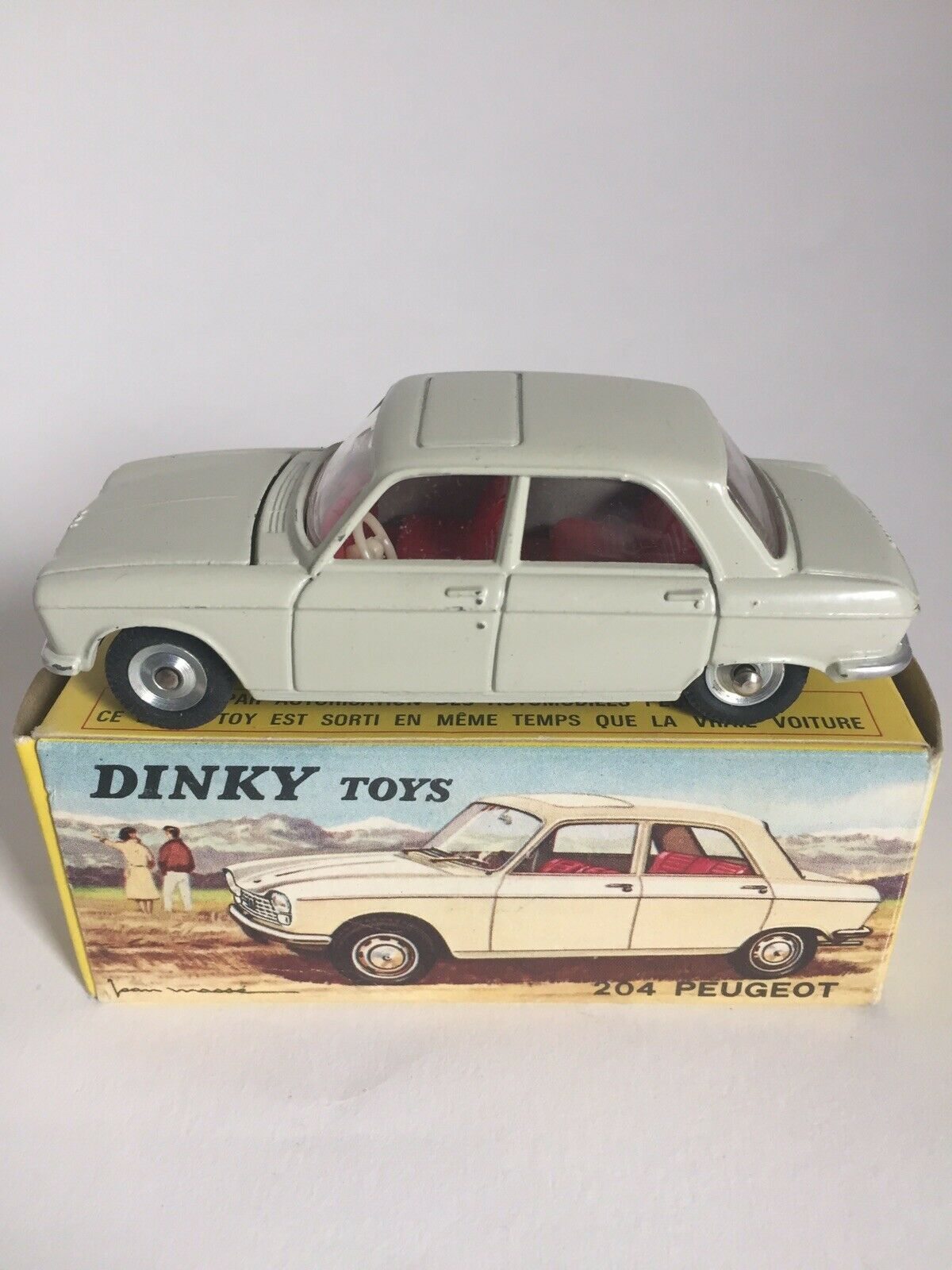 Ancienne DINKY TOYS 204 PEUGEOT ref 510 + Boite d'origine Made in France Meccano