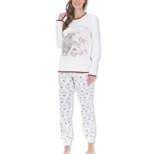 Happy People Donna Pyjama Set SONNO TUTA pinguino manica lunga S M L XL