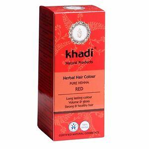 Khadi-PURO-Rojo-CERTIFICADO-Larga-Duracion-De-Hierbas-Color-Pelo