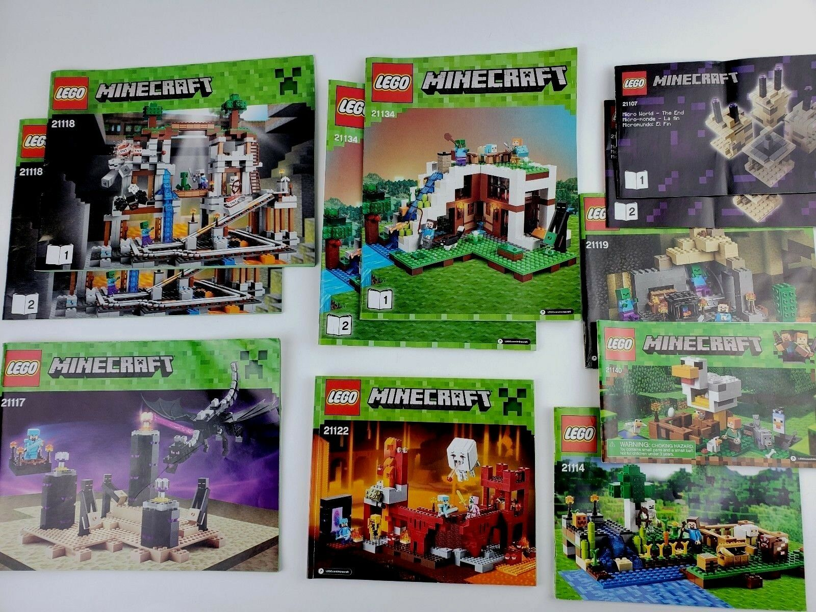 Minecraft Instruction Manual Only Lot T 10 Lego Ndfdkt3864 Lego
