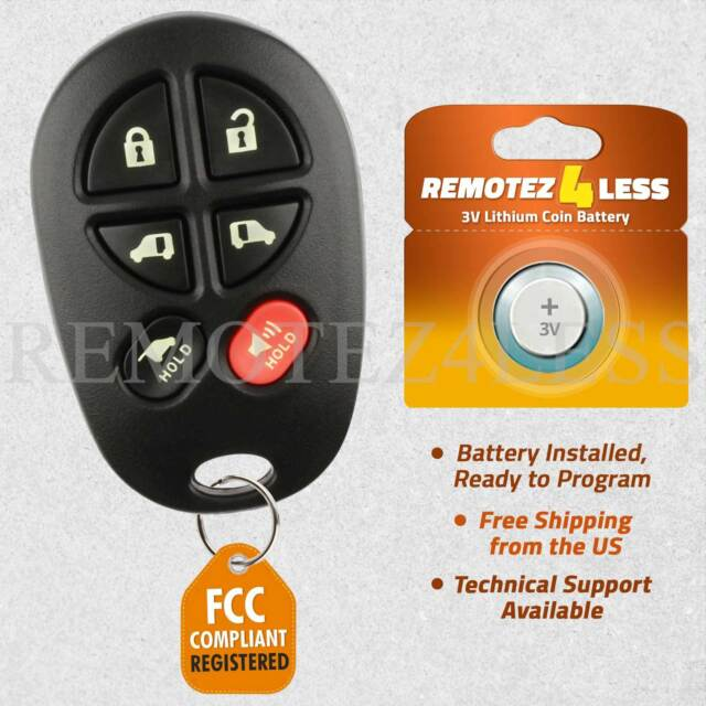 Replacement For Toyota Sienna Keyless Entry Remote Car Key Fob 6b