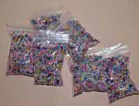 mixed colours and sizes round glass seed beads for jewellery making or crafts