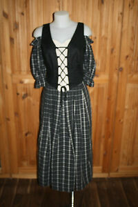 Kl2756 Bustier Dirndl Robe Traditionnel Robe Carmen Dirndl 42 StqwTSr