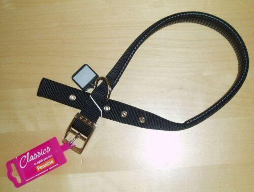 Pennine Acolchado Collar De Perro suave protección Nylon Negro
