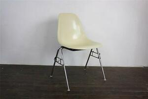 eames dss chair herman miller stacking base 50s 60s parchment off
