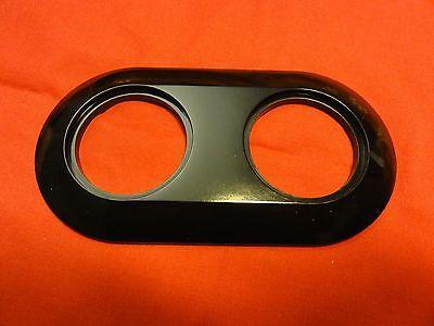 Berker 138121  Abdeckung 2fach schwarz glänzend. RETRO Serie 1930