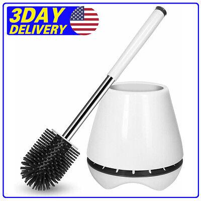 SidiOutil WC Silicone Bathroom Toilet Bowl Brush Se Toilet Brush and Holder Set
