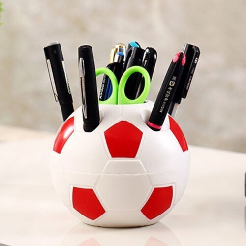 WO/_ AM/_ MAKEUP BRUSH HOLDER PEN PENCIL TIDY STATIONERY DESK FOOTBALL CONTAINER F