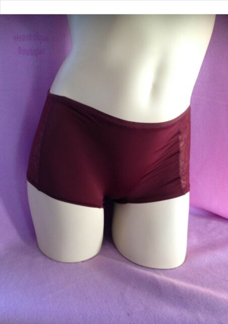 Ex Store WINE floral lace, light and airy, boy short panty knickers - quality