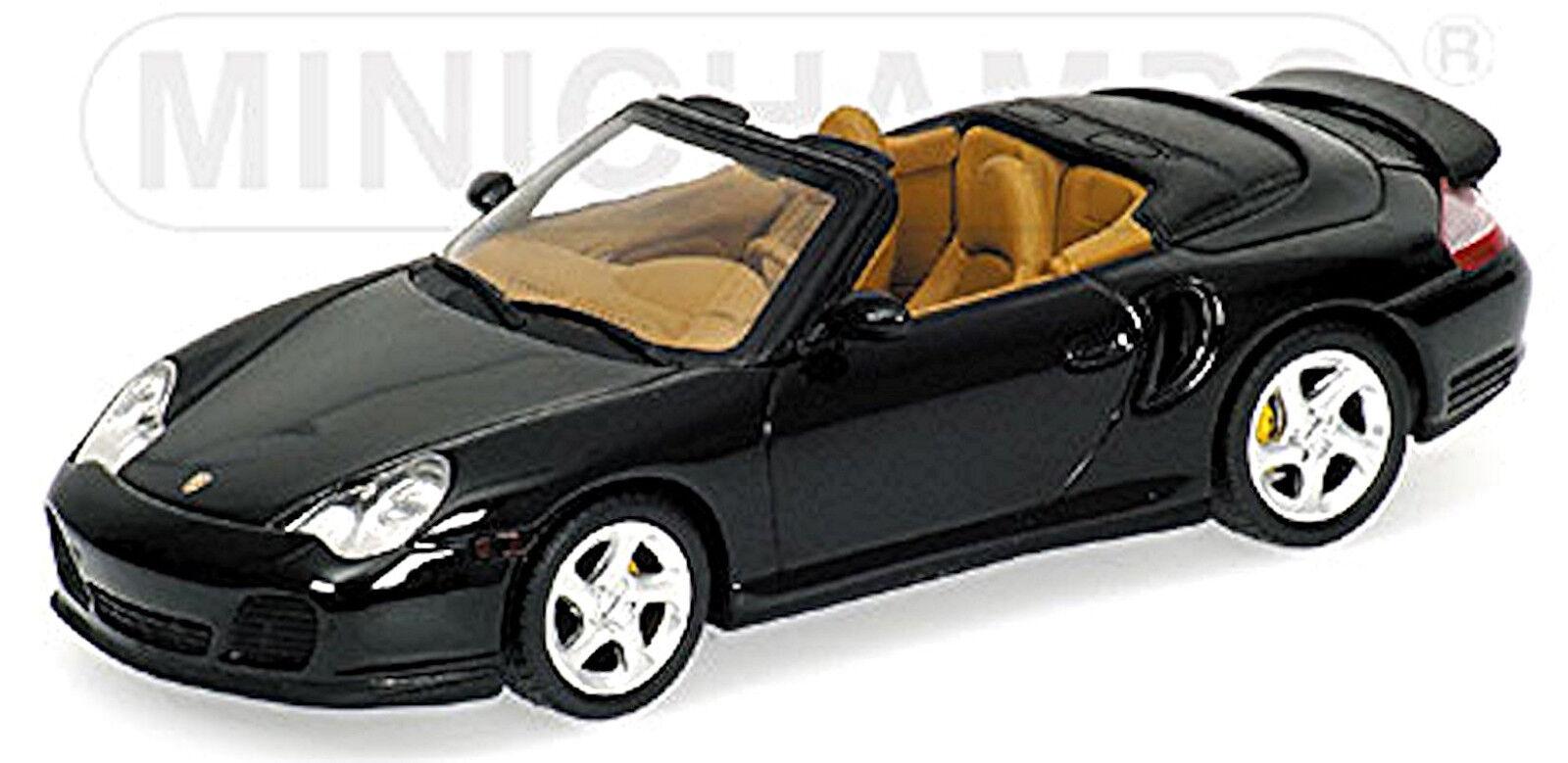 Porsche 911 Turbo Cabriolet typ 996 2000-06 dunkeloliv Vert vert Metallic 1 43