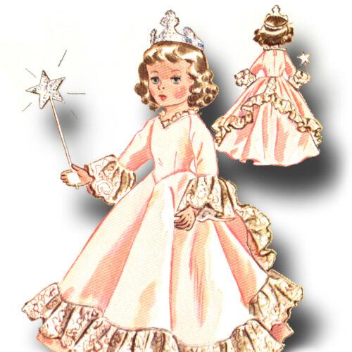"""Vtg Doll Princess Angel Pattern ~ 25/"""" 26/"""" Sweet Sue Nanette Miss Revlon Toni"""