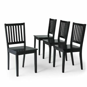 Set-of-4-Dining-Chairs-Wooden-Shaker-Seats-Furniture-Seating-Kitchen-Office-Desk