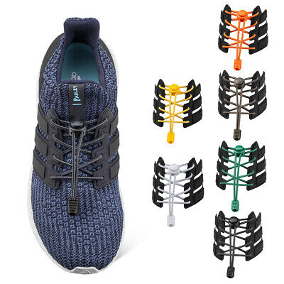 Elastic One Hand No Tie Shoe Laces System Lock Sports Shoelaces Runners Trainer