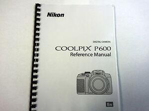 nikon coolpix p600 printed instruction manual user guide 236 pages rh ebay ie nikon digital camera d40 instruction manual nikon coolpix p530 camera user manual