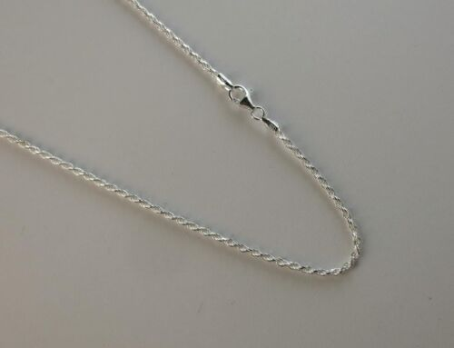Sterling Silver D//C Chain 925 ITALY Rope Necklace 2mm to 13mm 14 to 30 Inches