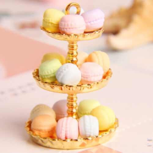 15Pcs Random Dollhouse Miniature Food Dessert French Macaron 1:12 Scale Super