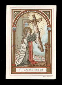 antico-santino-cromo-holy-card-S-GIOVANNA-DE-VALOIS