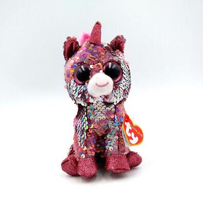 "6/"" TY Beanie Boo/'s Sparkle the Unicorn Glitter Eyes Stuffed With Tag  Plush Toys"