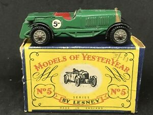 Matchbox-Lesney-Yesteryear-Y5-Series-1-Issue-4-1929-Le-Mans-Bentley-Rare-Box-A